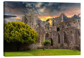 Canvas print  Ruins of an old monastery in Scotland