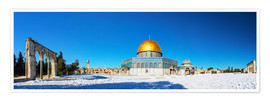 Premium poster  Dome of the Rock mosque in Jerusalem, Israel