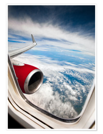 Premium poster  View from the airplane