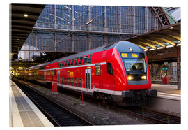 Acrylic print  Train in Frankfurt Train Station
