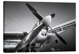 Canvas print  Engine of a propeller-driven aircraft