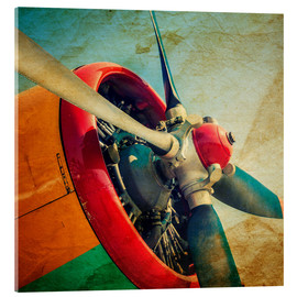 Acrylic print  Rotor Blades of a Military Plane
