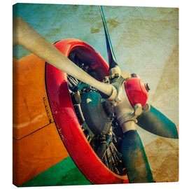 Canvas print  Rotor Blades of a Military Plane