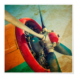 Premium poster Rotor Blades of a Military Plane