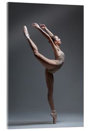 Acrylic print  Young and beautiful dancer