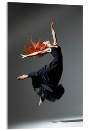 Acrylic print  Dancer with red hair