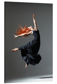 Aluminium print  Dancer with red hair