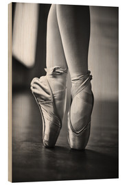 Wood print  Feet of a dancer