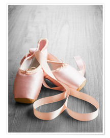 Premium poster  Pink Ballet Shoes