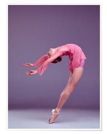 Premium poster  Young ballerina in pink dress
