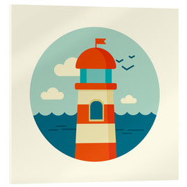 Acrylic print  Lighthouse in a circle - Kidz Collection
