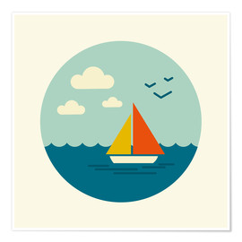 Premium poster  Little sailboat - Kidz Collection