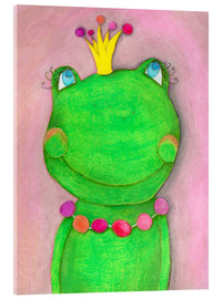 Acrylic print  The frog queen and the colorful crown - Atelier BuntePunkt