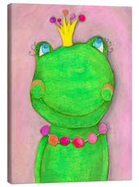 Canvas print  The frog queen and the colorful crown - Atelier BuntePunkt