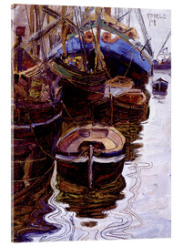 Acrylic print  Boats in the Port of Trieste - Egon Schiele