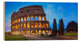 Wood print  Coliseum in Rome Italy - Jan Christopher Becke