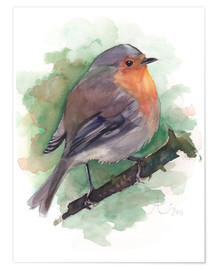 Premium poster  Robin - Verbrugge Watercolor