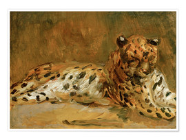 Premium poster  Reclining African Leopard - Max Slevogt