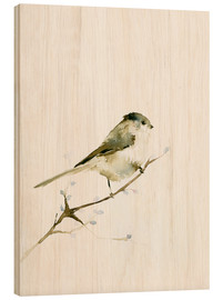 Wood print  Long-tailed tit - Dearpumpernickel