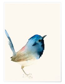 Premium poster  Dark blue bird - Dearpumpernickel
