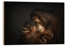 Wood print  Time for Tenderness Bond of love - Manuela Kulpa