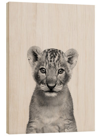 Wood print  Little King - Finlay and Noa