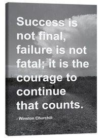 Canvas print  Winston Churchill on Courage - Finlay and Noa