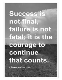 Premium poster  Winston Churchill on Courage - Finlay and Noa