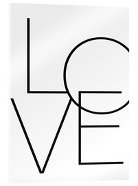 Acrylic print  Love - Finlay and Noa