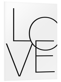 Foam board print  Love - Finlay and Noa
