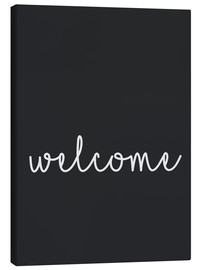 Canvas print  Welcome - Finlay and Noa
