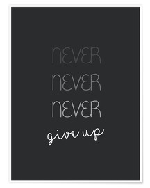 Premium poster  Never Give Up - Finlay and Noa