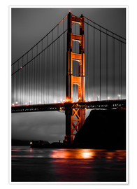 Premium poster Golden Gate