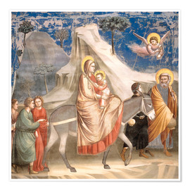 Premium poster  The Flight to Egypt - Giotto di Bondone