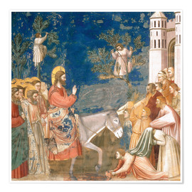 Premium poster  The Entry into Jerusalem - Giotto di Bondone