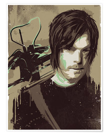 Premium poster  Daryl Dixon, The Walking Dead - 2ToastDesign