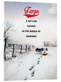 Acrylic print  Fargo (English) - 2ToastDesign