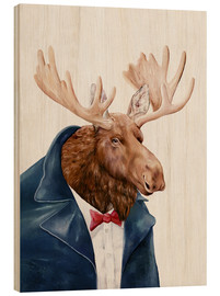 Wood print  Moose - Animal Crew