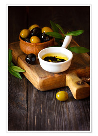 Premium poster  Green and Black Olives