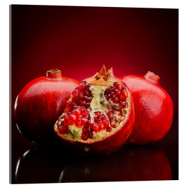 Acrylic print  Red Pomegranate