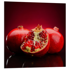 Foam board print  Red Pomegranate