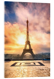 Acrylic print  Eiffel Tower in Paris at sunset - Jan Christopher Becke