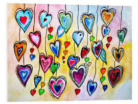 Foam board print  Awesome Colorful Hearts - siegfried2838
