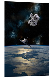 Acrylic print  An Astronaut Drifting into Space - Marc Ward