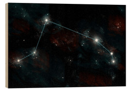 Wood print  Artist's depiction of the constellation Aries the Ram. - Marc Ward