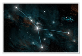 Premium poster  An artist's depiction of the constellation Cancer. - Marc Ward