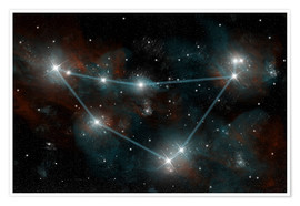 Premium poster  Artist's depiction of the constellation Capricorn the Sea Goat. - Marc Ward