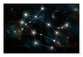 Premium poster  Artist's depiction of the constellation Gemini the Twins. - Marc Ward