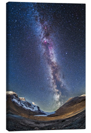 Canvas print  Milky Way over the Columbia Icefields in Jasper National Park, Canada. - Alan Dyer