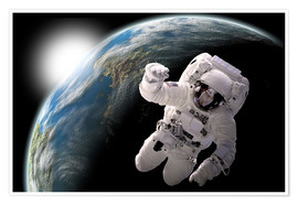 Premium poster  Astronaut in space - Marc Ward